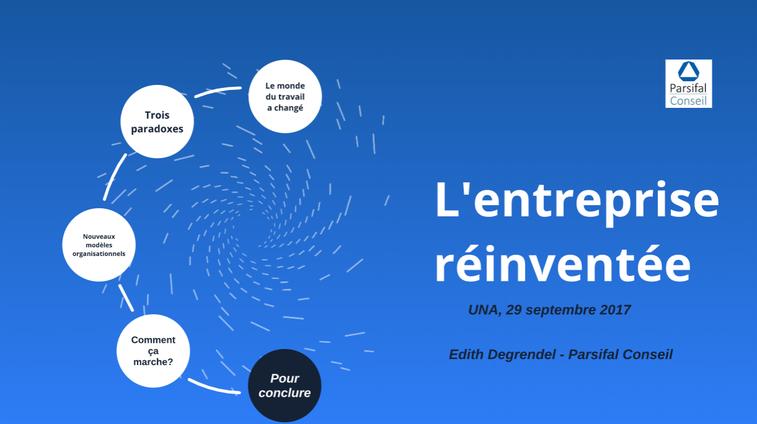 Conférence reinventing Organizations Frédéric Laloux