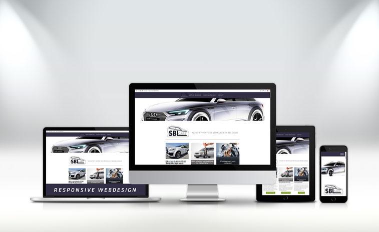 atelier infographik création de site web SBL Cars