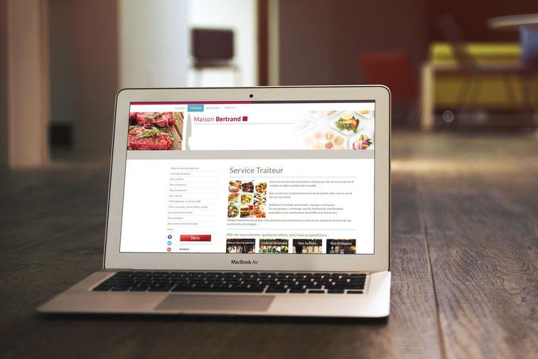 Boucherie Bertrand création de site web Jodoigne