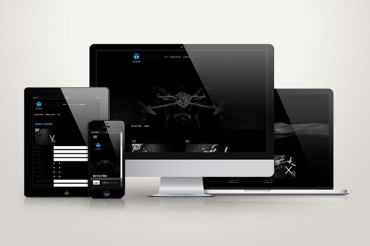 atelier infographik création de site web rc take off drone belgique