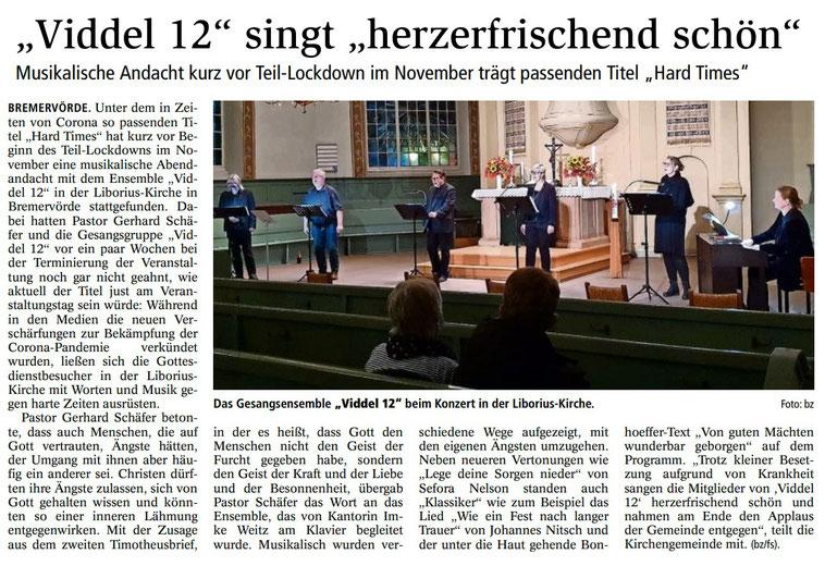 Bremervörder Zeitung, 09.11.2020