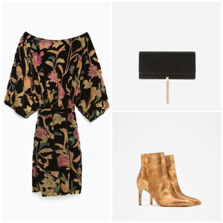 ZARA: DRESS, BOOTS. UTERQUE: BAG