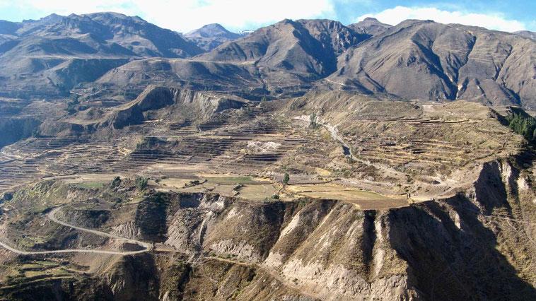 Peru: Nähe Chivay, Cabanaconde, Cruz del Condor.