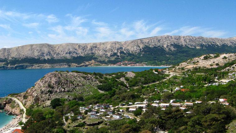 Kroatien Urlaub: Baska, Krk. Camping, wandern, baden