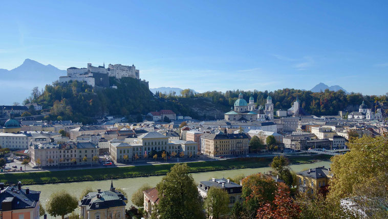 Ausblick vom Kapuzinerberg, Salzburg. Tipps für eine Städtereise.