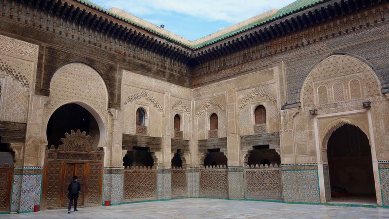Marokko Urlaub: Fès, Medersa Bou Inania