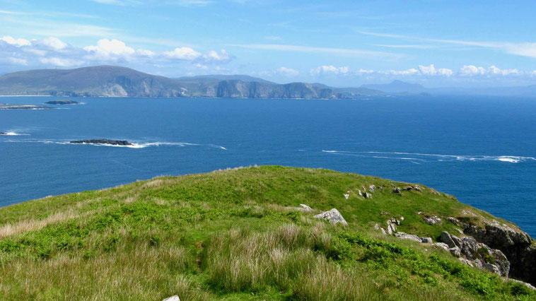 Irland Urlaub: Keem Bay, Seeklippen auf Achill Island.