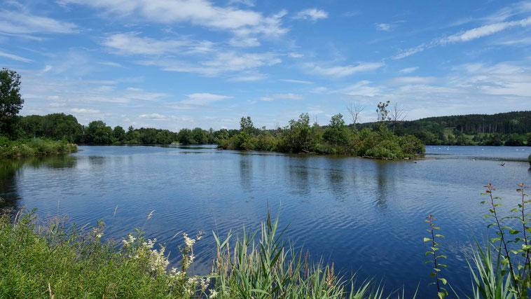 Stausee, Wertach, bei Bad Wörishofen