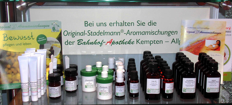 Stadelmann Aromamischungen Bahnhof-Apotheke Kempten
