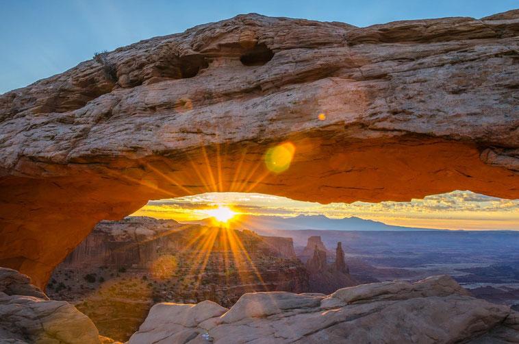 Perfekter Moment am Mesa Arch