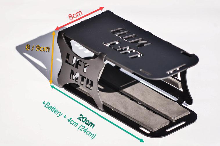 battery cage aluminium sizing