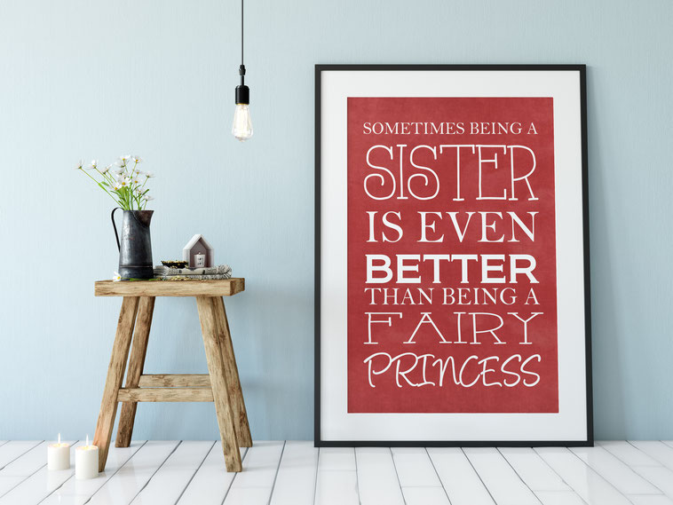 Kunstdruck Print Schwester