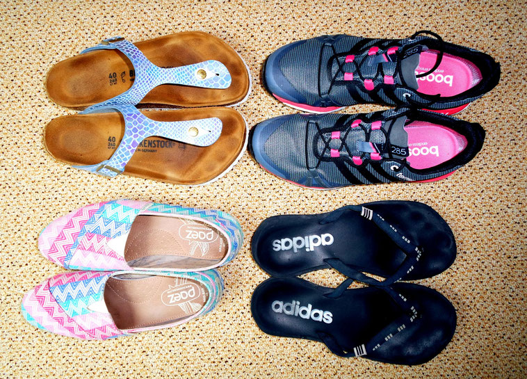 Shoes for a round-the-world trip