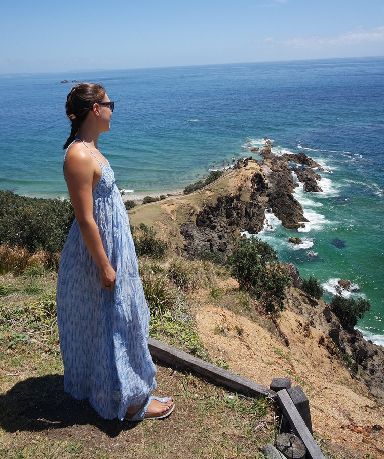 Laura at a viewpoint in Australia