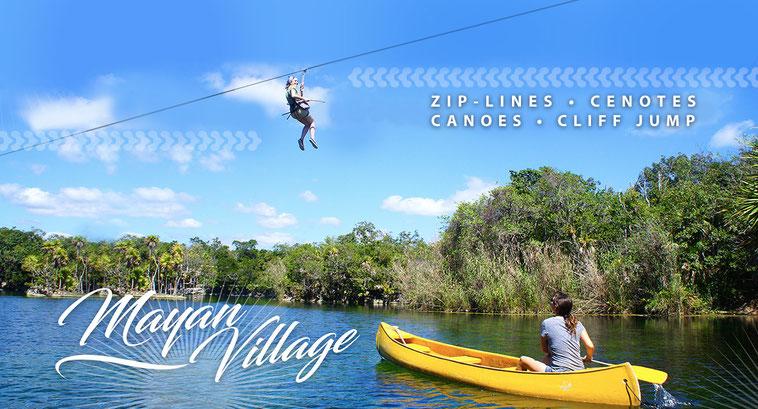 ZIPLINE & CANOE IN THE HEART OF THE MAYAN JUNGLE