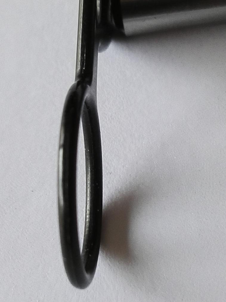 Très gros plan de la boucle de l'anneau
