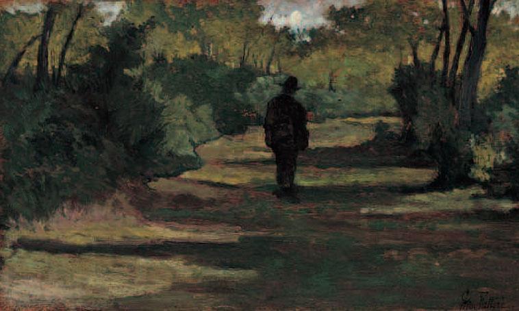 """Giovanni Fattori, """"Uomo nel bosto"""" (1890)"""