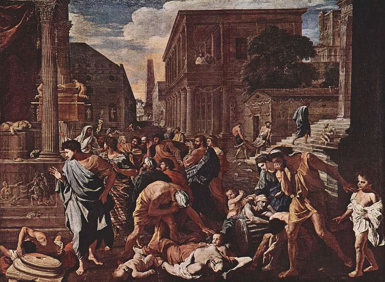 """N. Poussin, """"La peste di Azoth"""", 1630-31"""