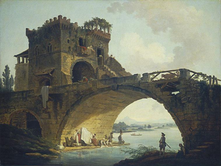 "Hubert Robert, ""Il Ponte Salario"" (1775)"