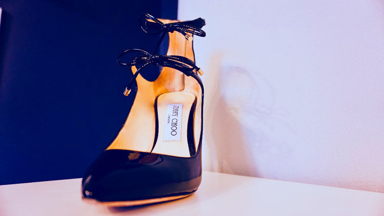 eleganter Damen High Heel Jimmy Choo glossy black