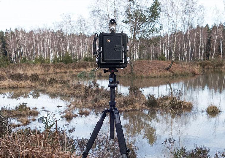 Landschaftsfotografie im Hohen Venn mit der WISTA 45SP. Foto: bonnescape.de