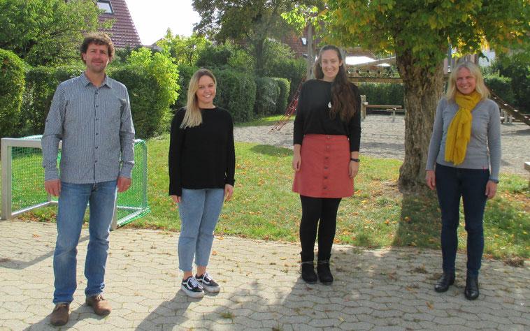 von links: Sven Kremer, Corina Ott (Schulsozialarbeiterin), Nicole Thein (Lehrkraft), Martina Wahl