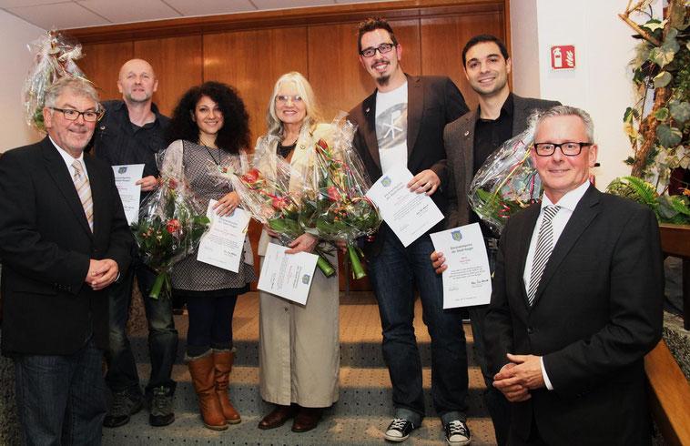 Verleihung des Ehrenamtpreises für Natilla und Stefan