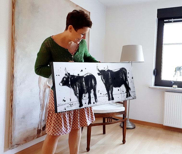 Stier gemalt Stierbild