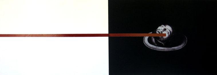 Albert Merz, ANATOMIE EINES TANZES, Nr. 3 verurteilt, 2011, Acryl, Laserdruck auf Leinwand, 240 x 80 cm, Foto: © Gerhard Haug