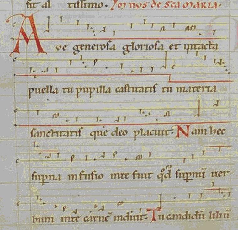 """Hildegarde von Bingen - Riesencodex f. 474v """"Ave generosa gloriosa et intacta"""""""
