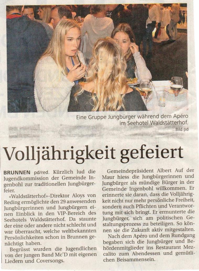 Bote der Urschweiz, 07.11.2015