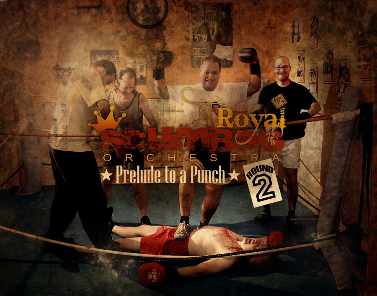 Spanish rock band 'Royal Scumbag Orchestra'' in Seville, Spain 2008. Crazy band. Rock Andaluz. Rock'n'roll. Rock. Guitar.'