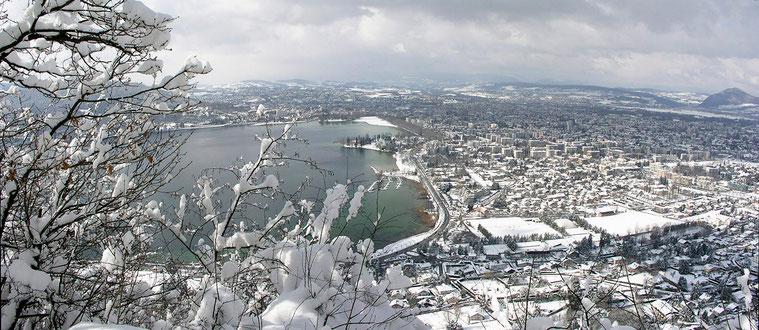 Annecy, en montant au Mont Veyrier