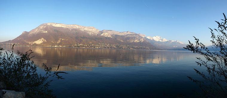 Lac d'Annecy, le Mont Veyrier, la Tournette