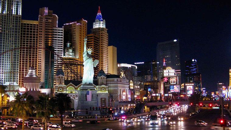 Las Vegas Strip bei Nacht, USA
