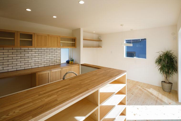 阿賀野市 住宅 キッチン 造作