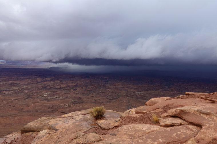 Eine spezielle Stimmung über den Canyonlands...