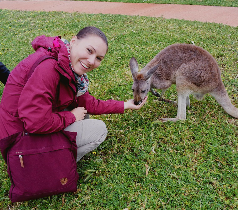 Laura with a kangoroo