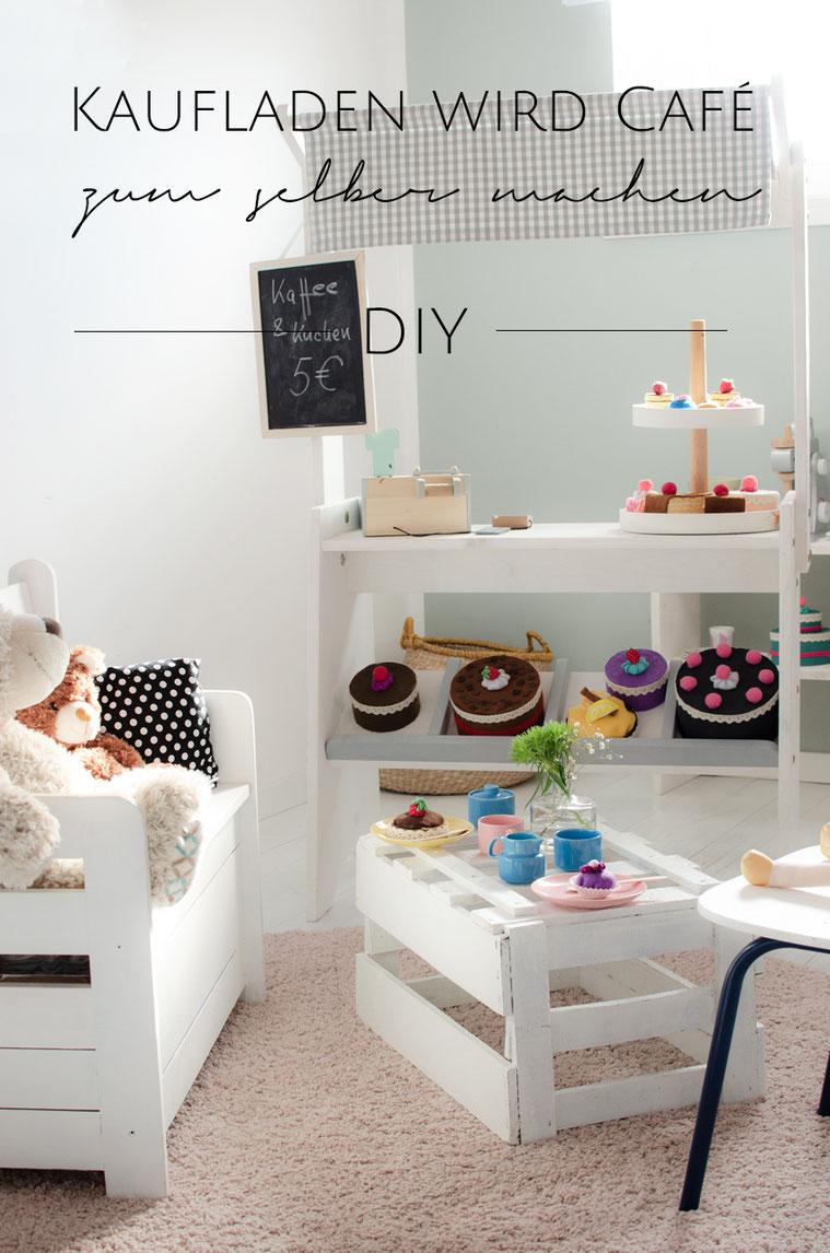 Kaufladen DIY Kuchen und Torten aus Filz basteln