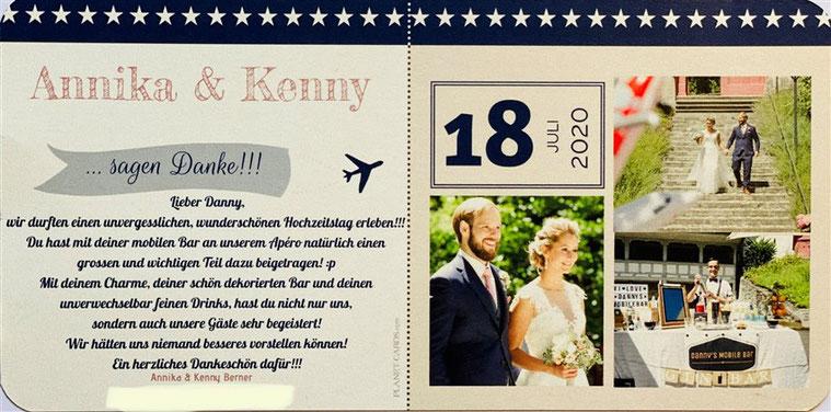 Karte Annika und Kenny, Hochzeit, Hochzeit Annika und Kenny, Hochzeit Schloss Liebegg