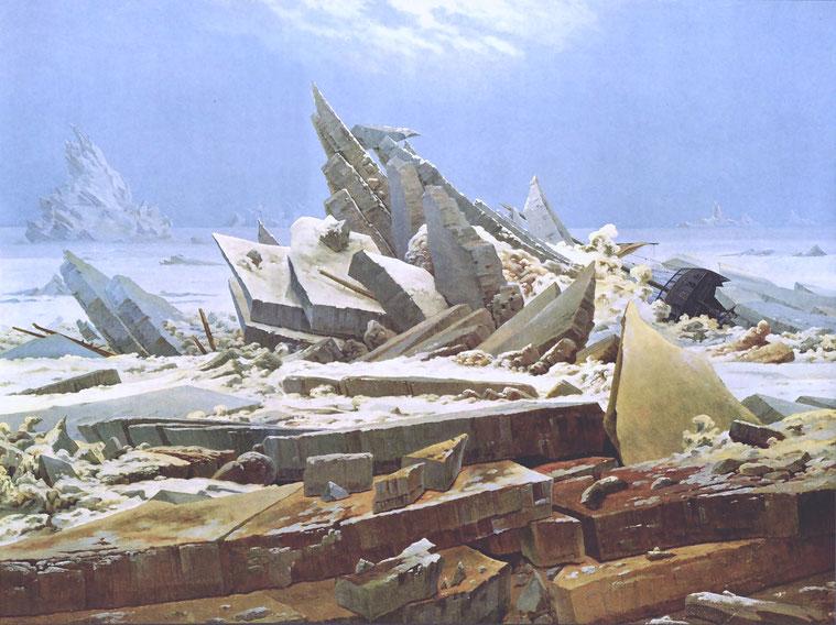 """C.D. Friedrich, """"Il mare di ghiaccio"""" (1823)"""