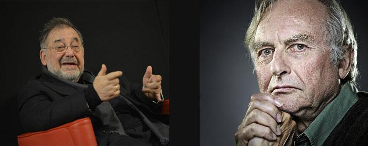 I biologi Edoardo Boncinelli e Richard Dawkins