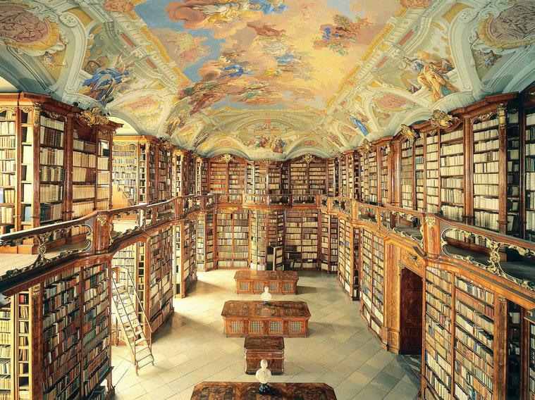 La biblioteca del monastero benedettino di Admont (Austria, Getty Images/Imagno)