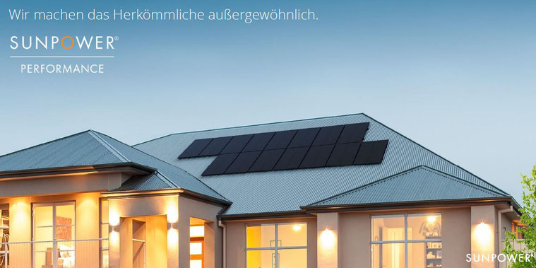 SunPower Performance 3 Module im Einsatz © SunPower