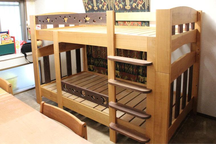 ツートンカラーの楽しい二段ベッド(荒川区・F様邸)