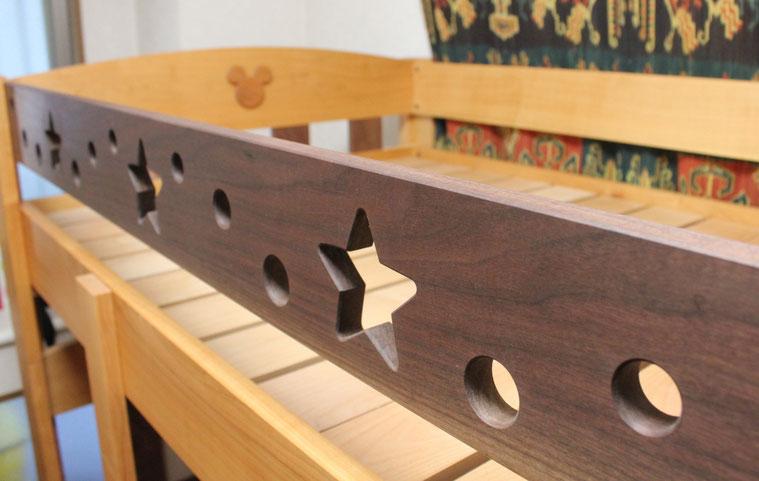 ツートンカラーの楽しい二段ベッド(荒川区・F様邸)サイドボード