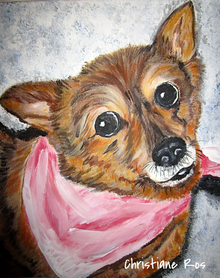 gemaltes Bild Hund © Christiane Ros