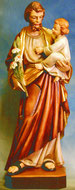 Bild Kategorien Holzfiguren Hl. Josef, Jesukind