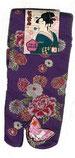 Scan meiner lila Socken