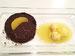 Kleiner Schokoladenkuchen mit Orangensauce
